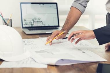 Reviewing building plans