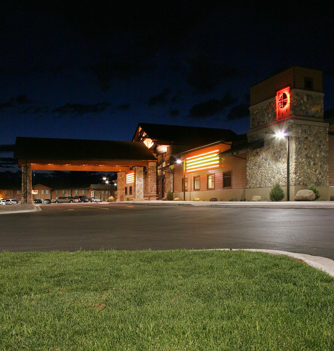 Potawatomi Carter Casino exterior at night