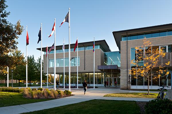 Upper Iowa University Student housing exterior entrance
