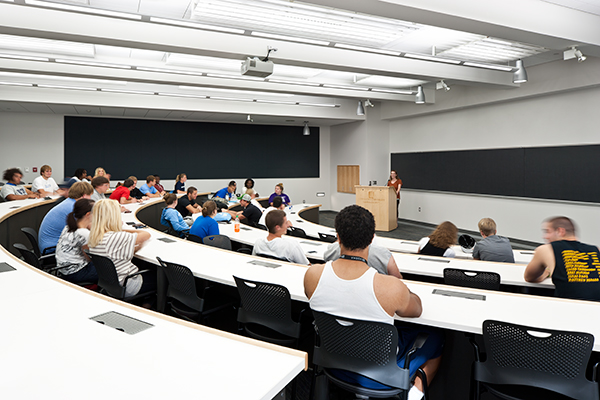 UIU Liberal Arts Building tiered 100-person lecture hall