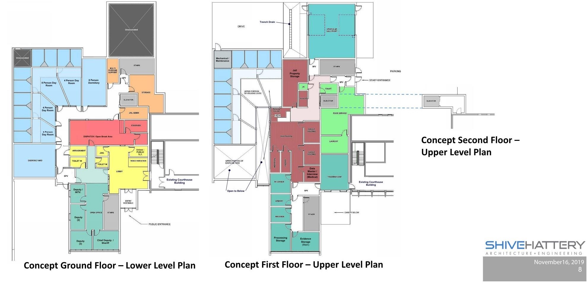 Guthrie County Law Enforcement Center Floor Plans