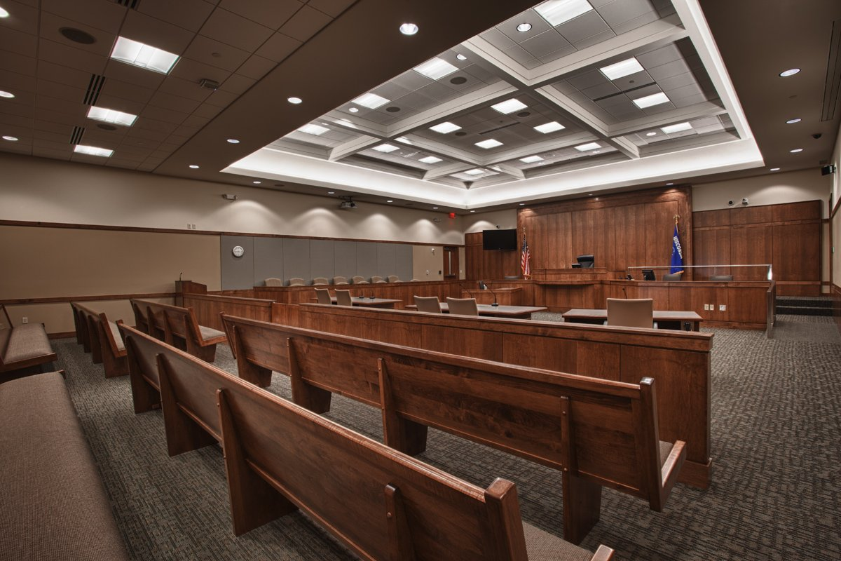 Green Lake County Government Center courtroom