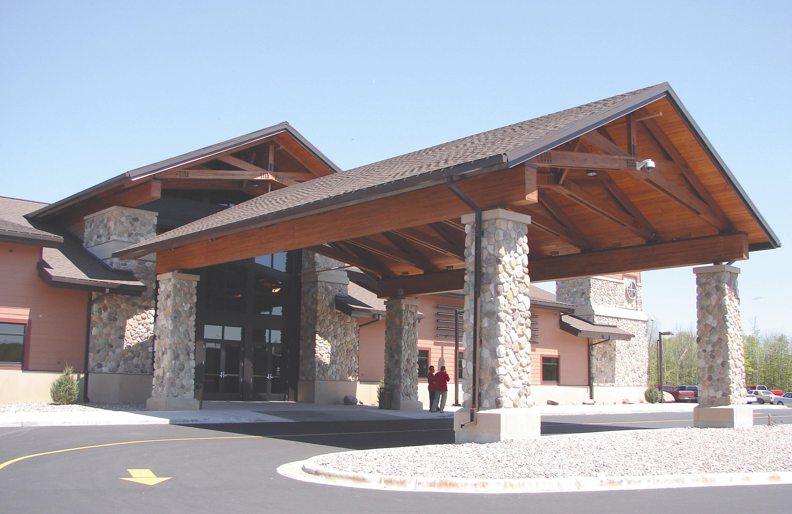 Potawatomi Carter Casino new entrance commercial construction